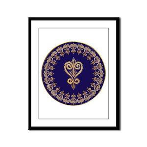 Armenian Heart Mandala Framed Panel Print