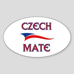 CZECH MATE Oval Sticker