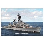 USS LUCE Large Poster