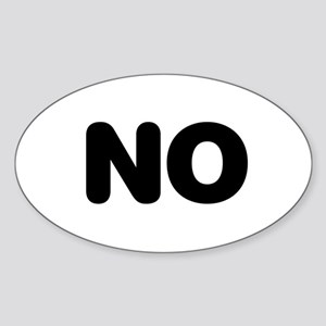 NO Oval Sticker