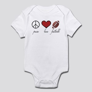 Peace, Love, Football Infant Bodysuit