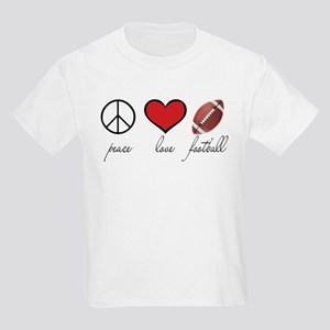 Peace, Love, Football Kids Light T-Shirt
