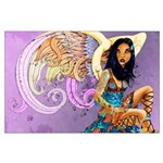 Large Asian Angel Poster