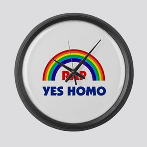 RAP IS YES HOMO Large Wall Clock