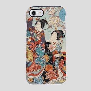 Japanese vintage beauty geisha iPhone 7 Tough Case