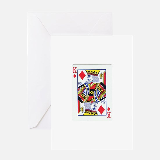 King of Diamonds Greeting Card