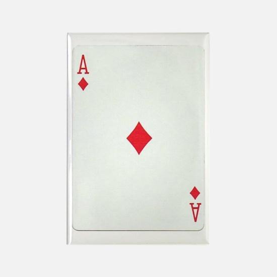 Ace of Diamonds Rectangle Magnet