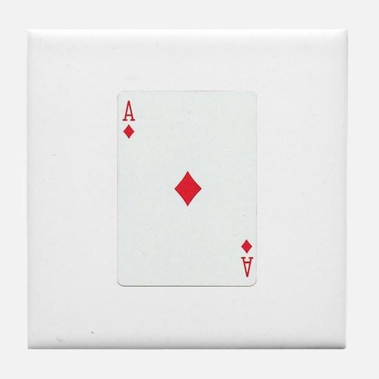 Ace of Diamonds Tile Coaster