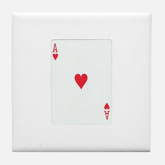 Ace of Hearts Tile Coaster