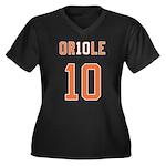 2010 OR10LE Women's Plus Size V-Neck Dark T-Shirt