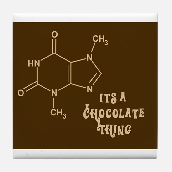 Chocolate Thing Valentine Tile Coaster