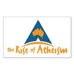 The Rise of Atheism Rectangle Sticker (10 pack)