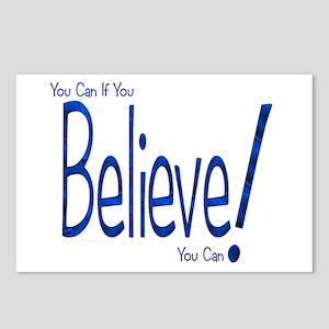 Believe! (blue) Postcards (Package of 8)