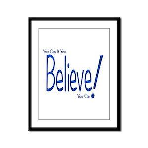 Believe! (blue) Framed Panel Print
