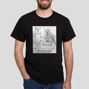 Computer Cartoon 3270 Dark T-Shirt