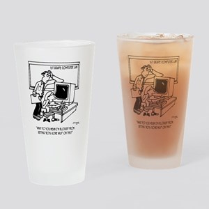 School Cartoon 3202 Drinking Glass