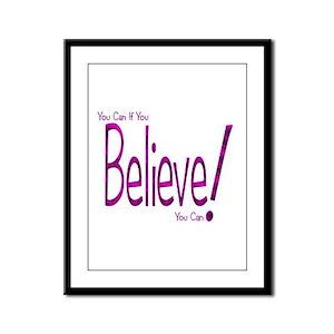 Believe! (purple) Framed Panel Print