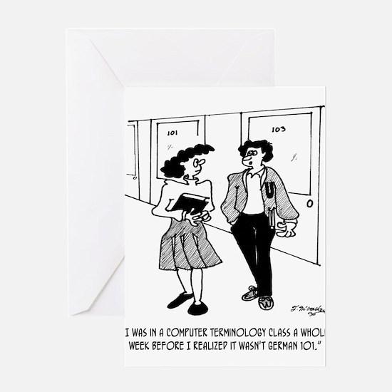 Language Cartoon 2864 Greeting Card