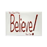 Believe! (Red) Rectangle Magnet (10 pack)