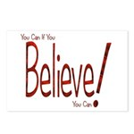 Believe! (Red) Postcards (Package of 8)