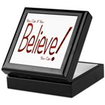 Believe! (Red) Keepsake Box