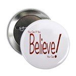 "Believe! (Red) 2.25"" Button (10 pack)"