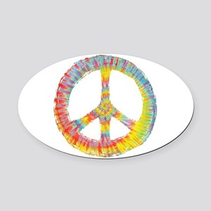 tiedye-peace-713-DKT Oval Car Magnet