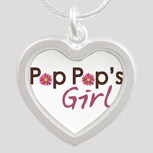pop pops girl Silver Heart Necklace