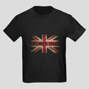 Vintage London 1940 Kids Dark T-Shirt