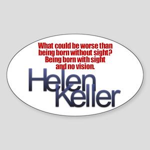 Helen Keller Oval Sticker