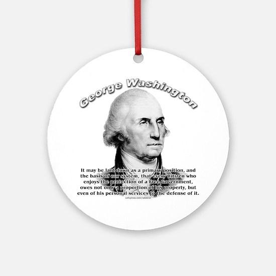 George Washington 05 Ornament (Round)