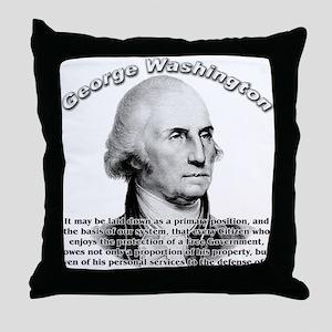 George Washington 05 Throw Pillow