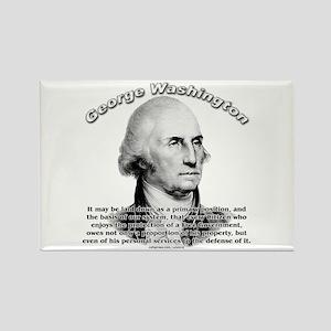 George Washington 05 Rectangle Magnet