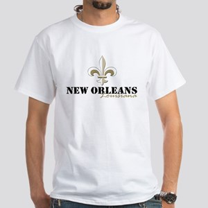 New Orleans, Louisiana gold White T-Shirt