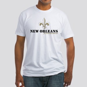 New Orleans, Louisiana gold Fitted T-Shirt