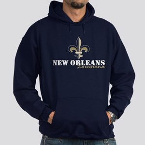 New Orleans Louisiana gold Hoodie (dark)