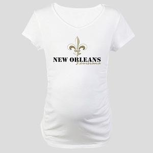 New Orleans Louisiana gold Maternity T-Shirt