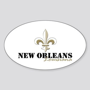 New Orleans Louisiana gold Sticker (Oval)
