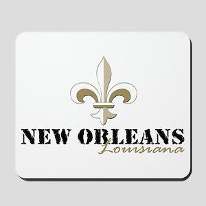 New Orleans Louisiana gold Mousepad