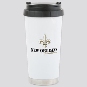 New Orleans Louis 16 oz Stainless Steel Travel Mug