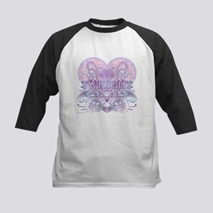 Twilight Mom Fancy Heart Kids Baseball Jersey