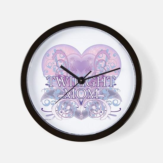 Twilight Mom Fancy Heart Wall Clock