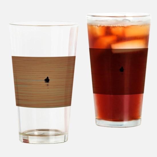Sunrise Duck - Alone Drinking Glass