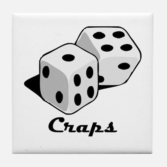 Craps Tile Coaster