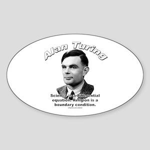 Alan Turing 01 Oval Sticker