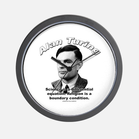 Alan Turing 01 Wall Clock