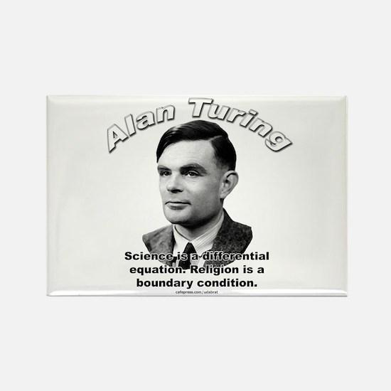 Alan Turing 01 Rectangle Magnet