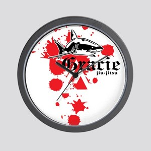 Gracie Jiu-Jitsu 3 WHT Wall Clock