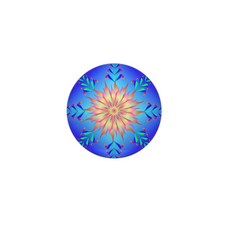 Flowers mandala Mini Button (10 pack)