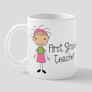 1st Grade Teacher Stick Figure Mug